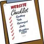 Checklist for real estate websites aand blogs